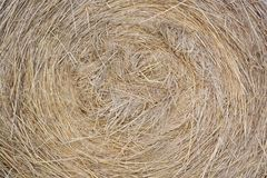 Hay bale as background Stock Images