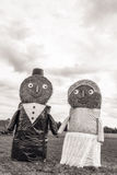 Hay Bale Bridal Couple Imagen de archivo