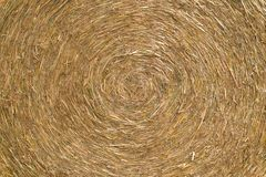 Hay bale close up. Royalty Free Stock Photo