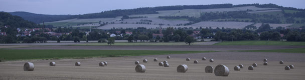 Hay bale countryside landscapes Stock Images