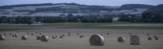 Hay bale countryside landscapes Royalty Free Stock Image
