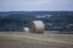 Hay bale countryside landscapes. A hay bale countryside landscapes Stock Photo