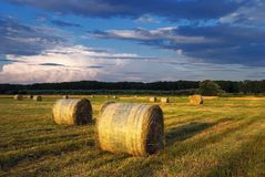 Hay Bale Farm Stock Photo
