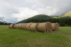 Hay Bale hand made Royalty Free Stock Photography