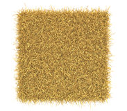 Hay bale isolated on white background. Three-dimensional illustration of hay bale isolated on a white background stock illustration