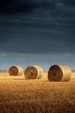 Hay Bale Landscape Stock Photography