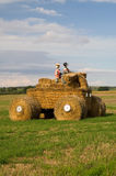 Hay Bale Quad Bike Stock Images