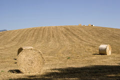 Hay Bale Scenery Stock Photos