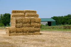 Hay Bale Stack Royalty Free Stock Photography