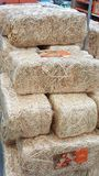 Hay bale. A stacked hay bale for Halloween Stock Images