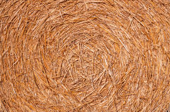Hay, bale, texture Stock Photography