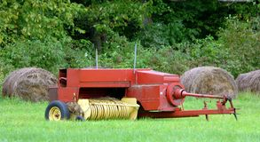 Hay Baler Stock Photo