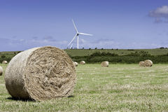 Hay Bales. Shot taken of local turbines in the lake district, Cumbria. Shot taken on a very windy summers day with blue sky. Taken from a vantage point Royalty Free Stock Photos