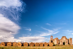 Hay bales background Royalty Free Stock Photography