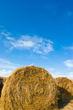 Hay bales and blue sky Royalty Free Stock Image