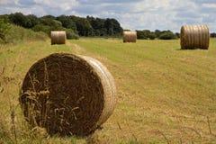 Hay Bales en Angleterre du nord-ouest Photo libre de droits
