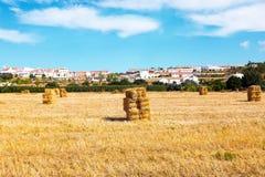 Hay bales in the fields near Aljezur Portugal. Hay bales in the fields near Aljezur in Portugal Stock Photo