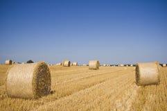 Hay bales, Idyllic rural landscape Royalty Free Stock Image