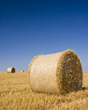 Hay bales, Idyllic rural landscape Royalty Free Stock Images