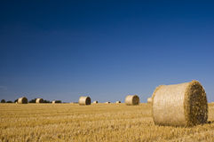 Hay bales, Idyllic rural landscape Stock Photos