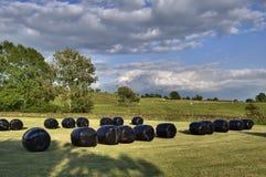 Hay Bales Near Ings Stock Image