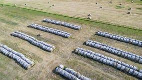 Hay bales in Nebraska Sandhills Royalty Free Stock Photos