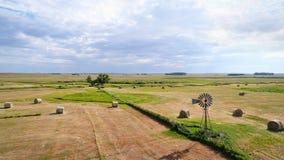 Hay bales in Nebraska Sandhills Stock Photo