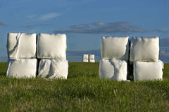 Hay bales in plastic Royalty Free Stock Image