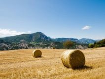 Hay bales in Provence, France Stock Photography