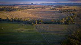 Hay bales in Scenic Rim, Queensland, Australia. Royalty Free Stock Photography