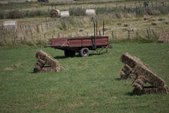 Hay bales square Royalty Free Stock Image