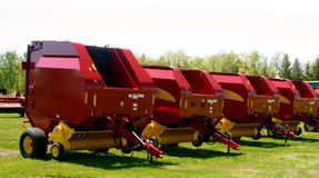 Hay baling machinery Stock Photos