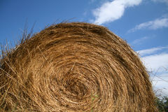 Hay ball on blue sky Royalty Free Stock Images