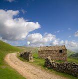 Hay Barn. A stone hay barn in the Yorkshire Dales Stock Photo