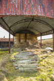 Hay in Barn Royalty Free Stock Photos