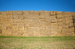 Hay barrier Royalty Free Stock Photo