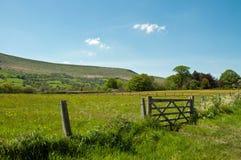 Hay Bluff y las montañas de Inglaterra y de País de Gales Imagen de archivo libre de regalías