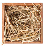 Hay in box Royalty Free Stock Image
