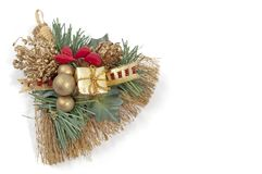 Hay broom festivity decoration. For christmas and Epiphany Royalty Free Stock Photo