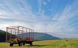 Hay cart Stock Image