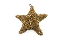 Hay christmas star Royalty Free Stock Photo