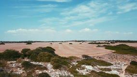 Hay Circles nel campo vicino ai marmols del DES di playa, Mallorca Fotografie Stock Libere da Diritti