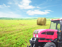 Hay cleaning in the field Royalty Free Stock Photos