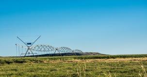 Hay Crop Irrigation fotografie stock