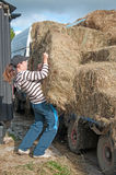 Hay delivery Stock Image
