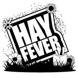Hay fever icon with plants Stock Photography