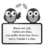 Hay Fever Poem Stock Image
