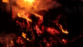 Hay on fire 2 stock footage