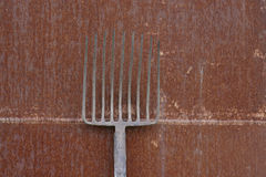 Hay-fork stock photography