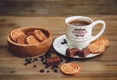 Hay galletas, caramelo, guisantes del chocolate, amapola Foto de archivo